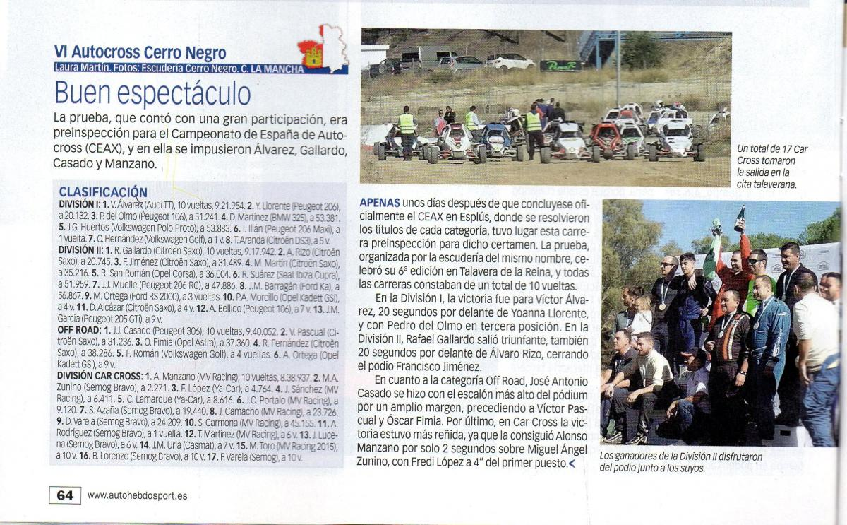 Auto Hebdo VI Autocross